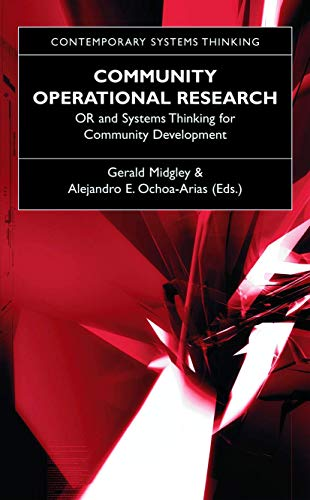 Community Operational Research: Or and Systems Thinking for Community Development