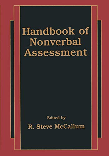 9781461349457: Handbook of Nonverbal Assessment