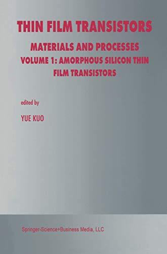9781461350569: Thin Film Transistors: Materials and Processes