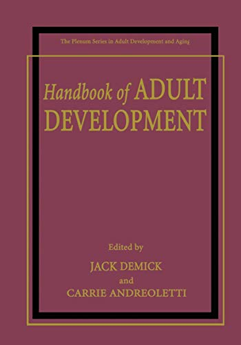9781461351603: Handbook of Adult Development (The Springer Series in Adult Development and Aging)