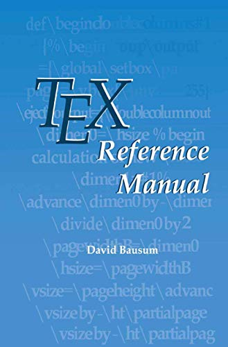 9781461353157: TeX Reference Manual
