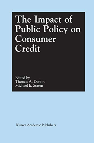 9781461355427: The Impact of Public Policy on Consumer Credit