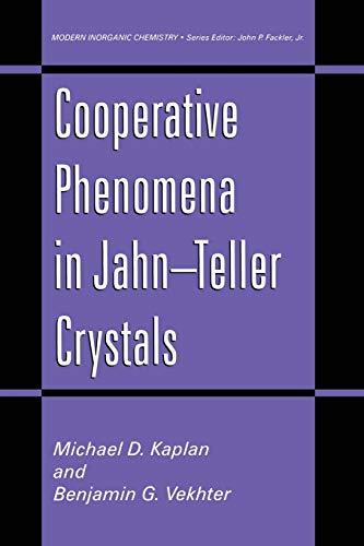 9781461357551: Cooperative Phenomena in Jahn―Teller Crystals (Modern Inorganic Chemistry)