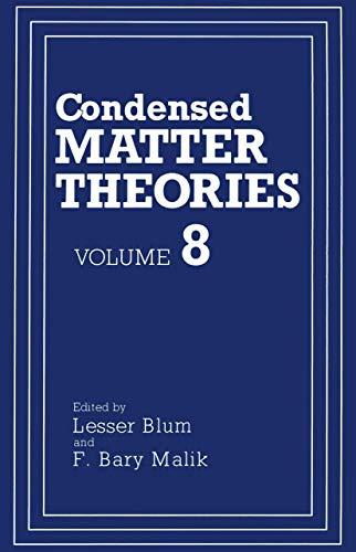 Condensed Matter Theories: LESSER BLUM