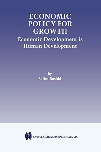 Economic Policy for Growth: Economic Development is Human Development: Salim Rashid