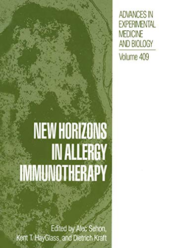 9781461376842: New Horizons in Allergy Immunotherapy (Advances in Experimental Medicine and Biology)