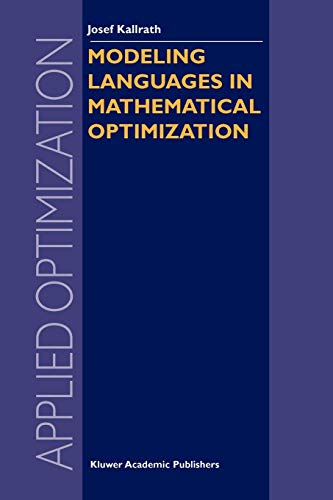 9781461379454: Modeling Languages in Mathematical Optimization (Applied Optimization)
