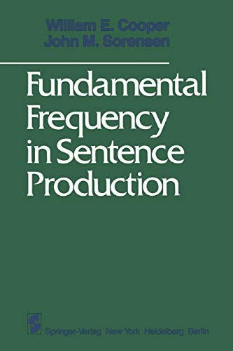 9781461380955: Fundamental Frequency in Sentence Production