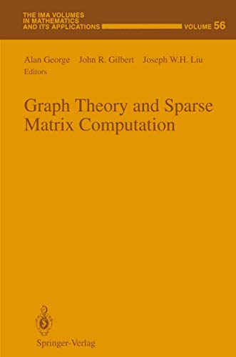 9781461383710: Graph Theory and Sparse Matrix Computation (The IMA Volumes in Mathematics and its Applications)