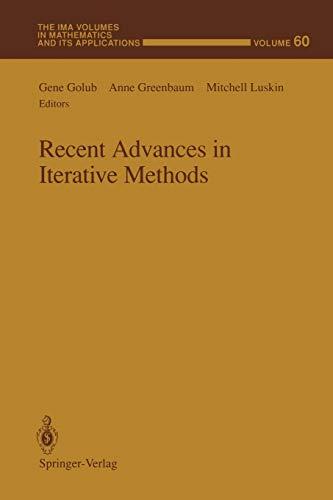 Recent Advances in Iterative Methods (Paperback)