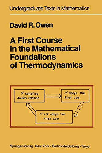 9781461395072: A First Course in the Mathematical Foundations of Thermodynamics (Undergraduate Texts in Mathematics)