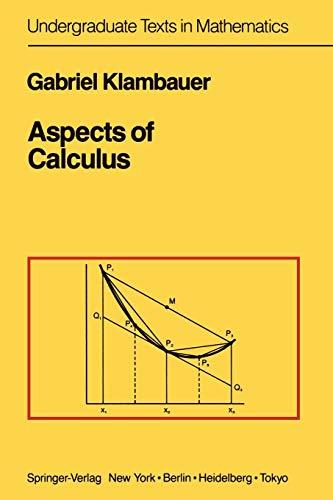 9781461395638: Aspects of Calculus (Undergraduate Texts in Mathematics)