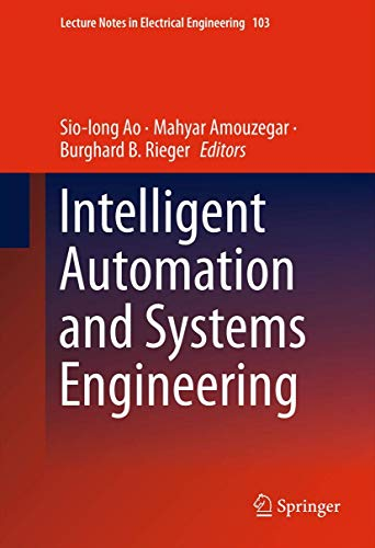 9781461403722: Intelligent Automation and Systems Engineering (Lecture Notes in Electrical Engineering)