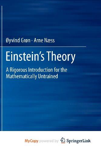 9781461407072: Einstein's Theory
