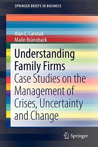 Understanding Family Firms: Case Studies on the: Brännback, Malin, Carsrud,