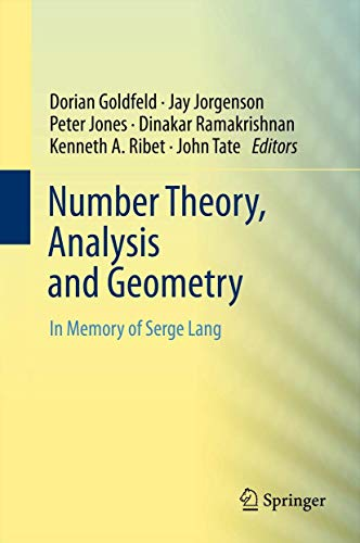 9781461412595: Number Theory, Analysis and Geometry: In Memory of Serge Lang