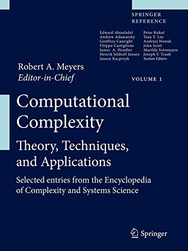 Computational Complexity: Theory, Techniques, and Applications (Hardback)