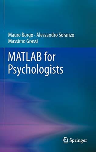 9781461421962: MATLAB for Psychologists