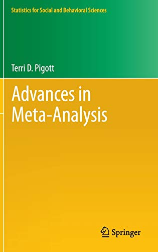9781461422778: Advances in Meta-Analysis (Statistics for Social and Behavioral Sciences)