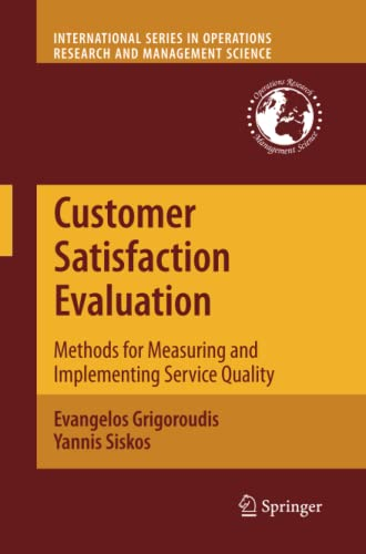 9781461425021: Customer Satisfaction Evaluation: Methods for Measuring and Implementing Service Quality (International Series in Operations Research & Management Science)