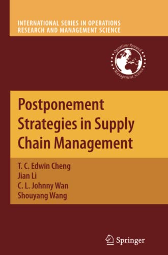 9781461425953: Postponement Strategies in Supply Chain Management (International Series in Operations Research & Management Science)