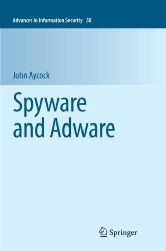 9781461426837: Spyware and Adware (Advances in Information Security)