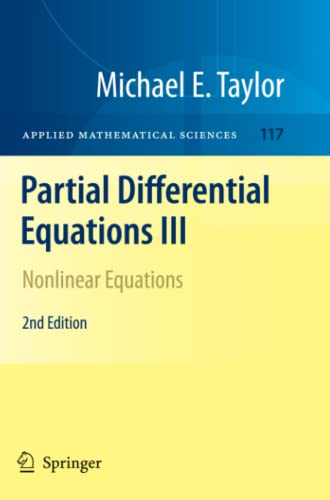 9781461427414: Partial Differential Equations III: Nonlinear Equations (Applied Mathematical Sciences)
