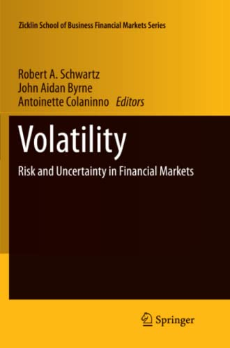 9781461427612: Volatility: Risk and Uncertainty in Financial Markets (Zicklin School of Business Financial Markets Series)