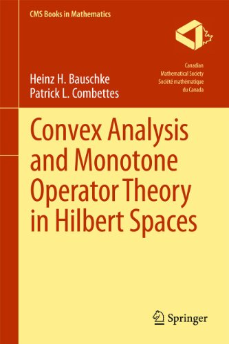 Convex Analysis and Monotone Operator Theory in Hilbert Spaces: HEINZ H. BAUSCHKE