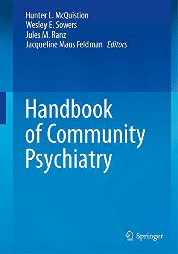 9781461431480: Handbook of Community Psychiatry