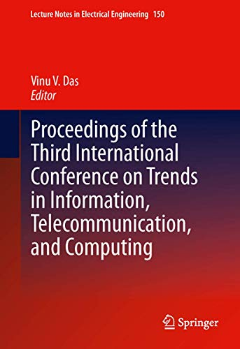 Proceedings of the Third International Conference on Trends in Information, Telecommunication and ...