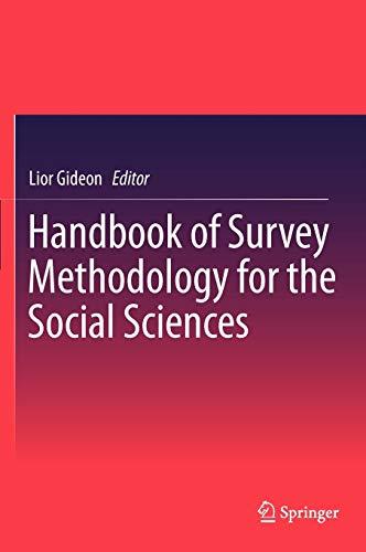 9781461438755: Handbook of Survey Methodology for the Social Sciences