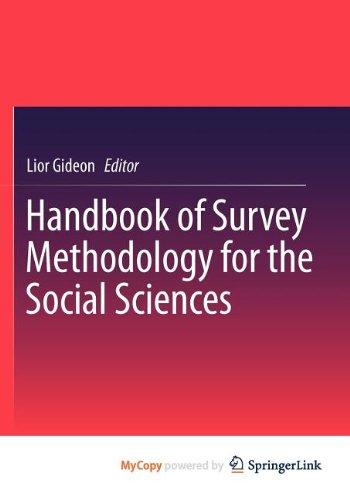 9781461438779: Handbook of Survey Methodology for the Social Sciences