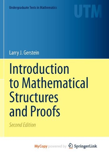 9781461442660: Introduction to Mathematical Structures and Proofs