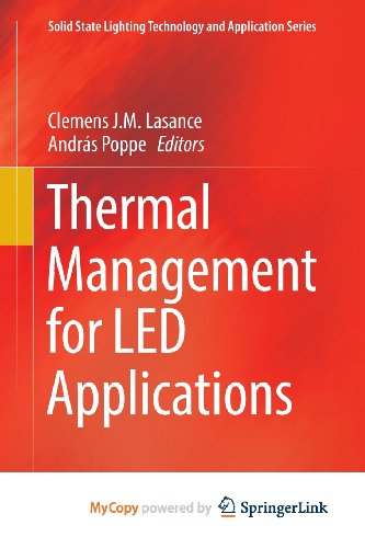 9781461450924: Thermal Management for LED Applications