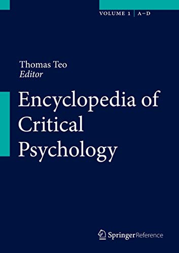 Encyclopedia of Critical Psychology (Hardback)