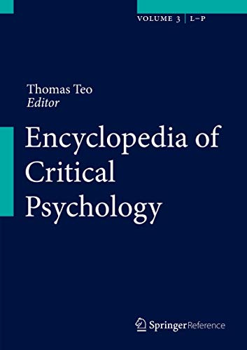 9781461455844: Encyclopedia of Critical Psychology