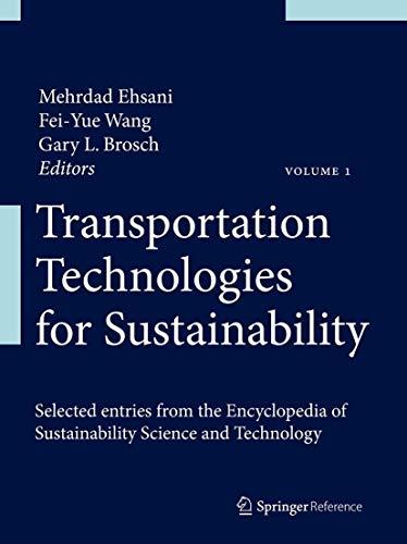 Transportation Technologies for Sustainability (Hardback)