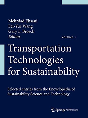 9781461458456: Transportation Technologies for Sustainability