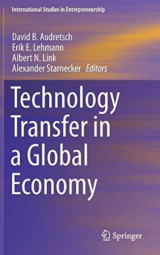 9781461461012: Technology Transfer in a Global Economy (International Studies in Entrepreneurship)