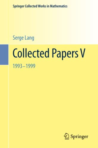 Collected Papers V: 1993-1999: Serge Lang