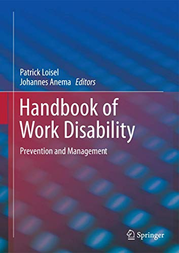 Handbook of Work Disability: Johannes Anema