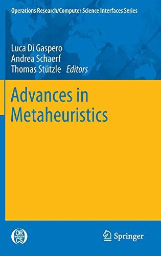 Advances in Metaheuristics: Thomas St Tzle
