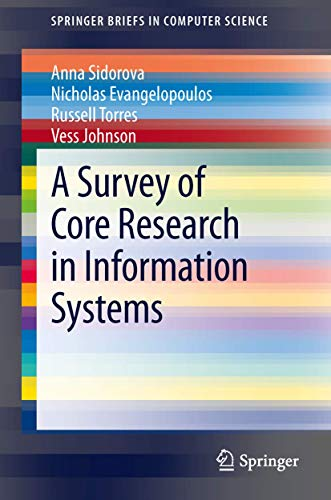 9781461471578: A Survey of Core Research in Information Systems (Springer Briefs in Computer Science)