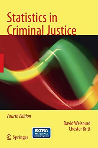 9781461491699: Statistics in Criminal Justice