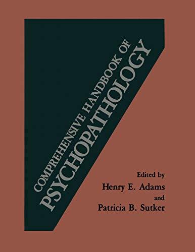 9781461566830: Comprehensive Handbook of Psychopathology