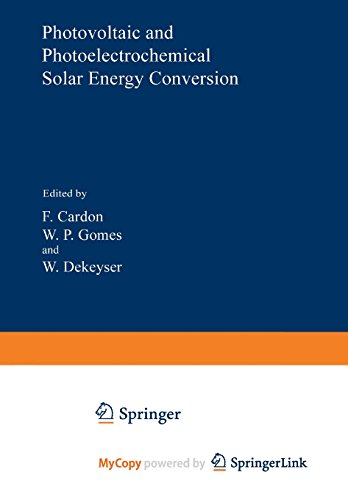 9781461592341: Photovoltaic and Photoelectrochemical Solar Energy Conversion