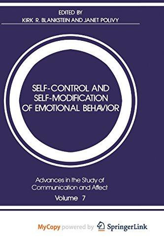 9781461592617: Self-Control and Self-Modification of Emotional Behavior