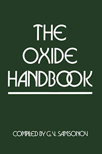 9781461595991: The Oxide Handbook (IFI Data Base Library)