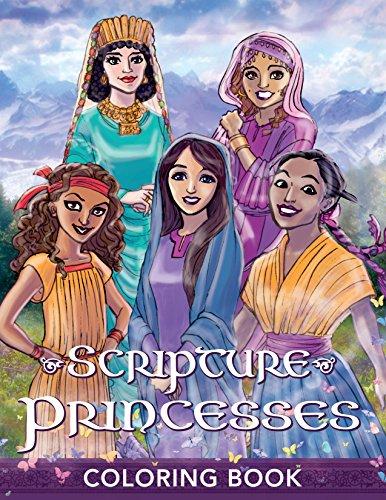Scripture Princesses Coloring Book (Paperback): Rebecca J Greenwood